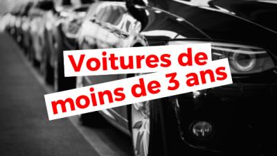 Algérie : Voitures d'occasion (moins de 3 ans)
