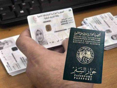 Algérie : Carte d'identité biométrique passeport