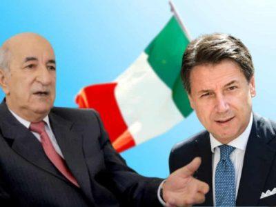 Algérie Italie : Giuseppe Conte Tebboune