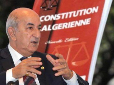 Algérie : Tebboune révision constitution