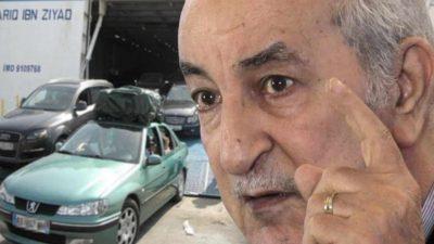 Algérie : Tebboune importation voiture moins 3 ans