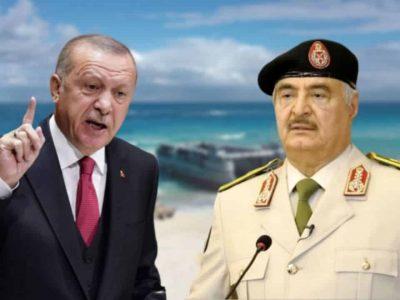 Libye Turquie : Arrivée armée Erdogan Haftar