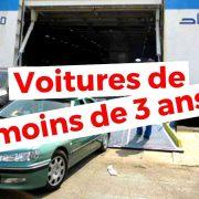 algérie voiture moins de 3 ans TVA