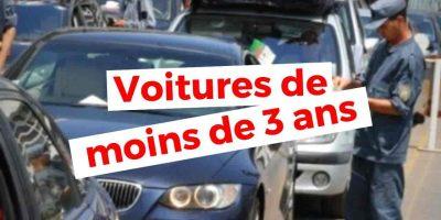 algerie importation voiture moins 3 ans