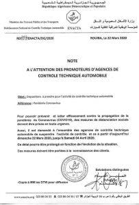 controle technique algérie
