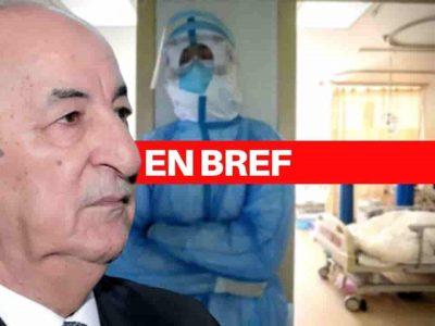 Coronavirus Tebboune Algérie