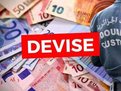 montant devise autorisé algérie