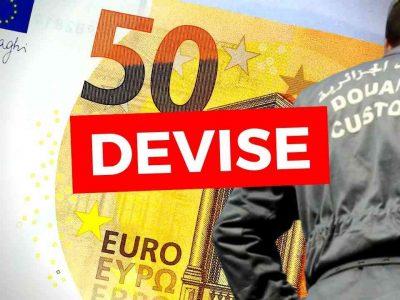 montant maximum devise voyage algérie