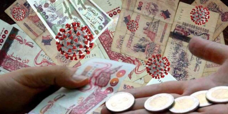 Algérie Coronavirus billets monnaie