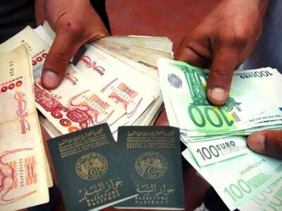 Visas Algérie euro dinar