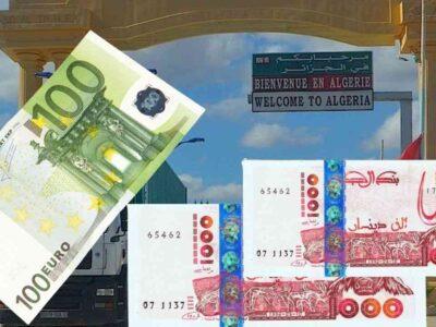 marché euro algérie frontières