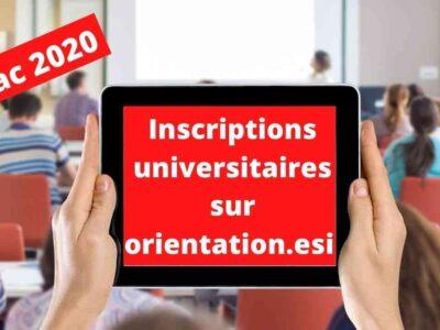 Algérie universitaires inscriptions orientation