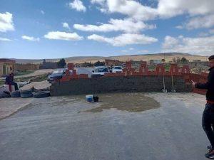 Algérie construction mur route
